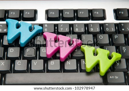 WWW letters on the keyboard