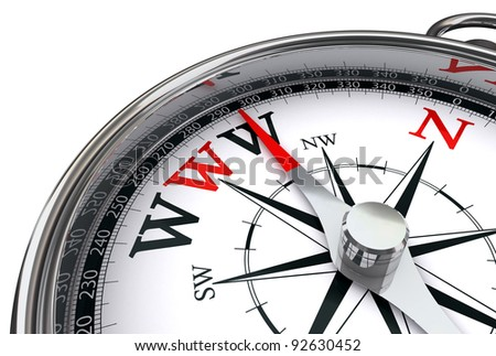 www the way indicated by compass conceptual image on white background