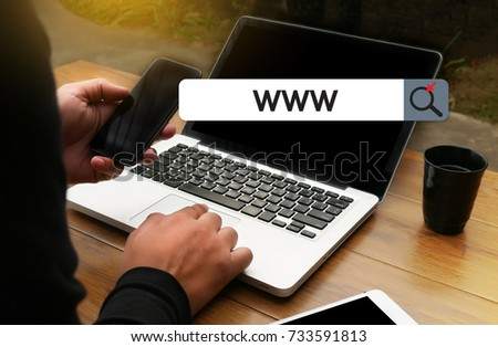 WWW Website Online Internet Web Page computer Browser Connection Network Concept to use www #733591813