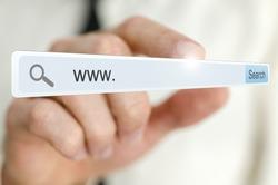 www. written in search bar on virtual screen.