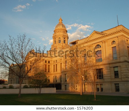 Wyoming State Capitol Building, Cheyenne - stock photo