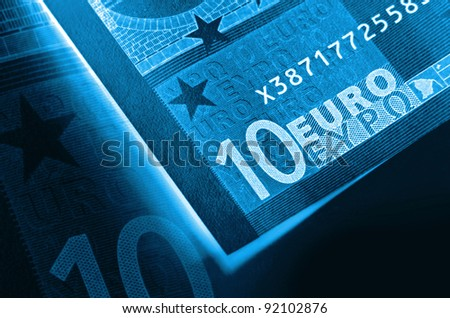 x-ray abstract euro money background