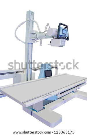 X-ray apparatus under the white background