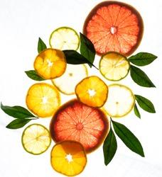 x ray citrus fruits