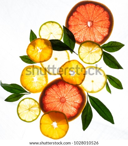 x ray citrus fruits