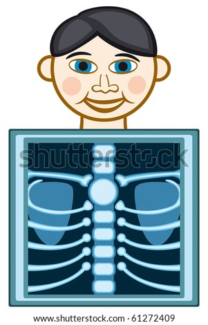 X-ray icon on white background