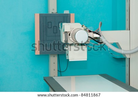 X-ray machine station without people