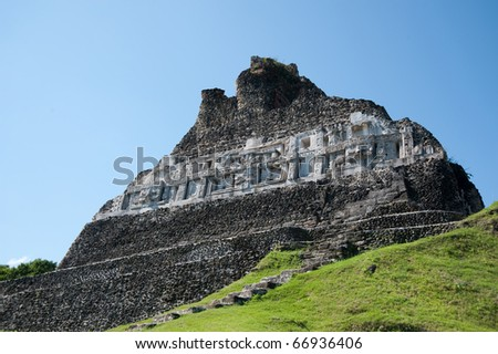 Xanantunich, ancient mayan ruins located in Belize, Latin america