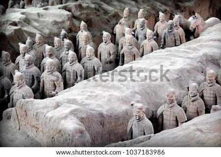 Xi'an Xian terracotta army warriors, Shaanxi, China