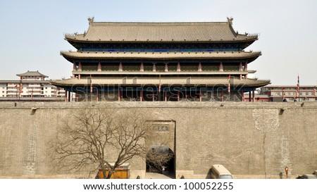 Xian Walled City South Gate Main Tower - Xian, China