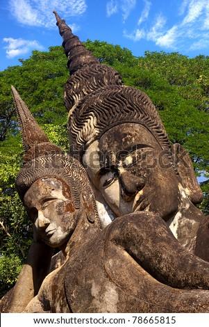 Xieng Khuan - buddha park near Vientiane. Laos,