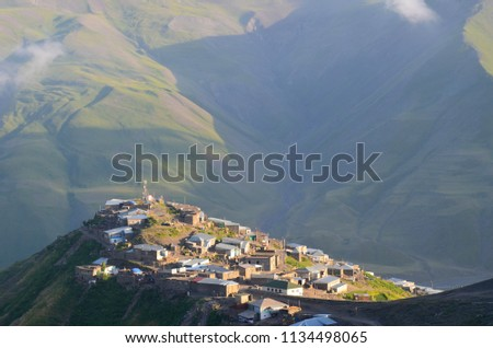 Xinaliq, Azerbaijan, a remote mountain village in the Greater Caucasus range