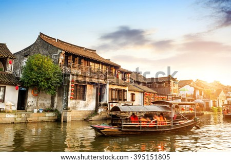 Xitang ancient town , Xitang is first batch of Chinese historical and cultural town, located in Zhejiang Province, China. #395151805