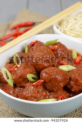 Xiu Mai - Vietnamese spicy pork meatballs in fragrant tomato sauce ...