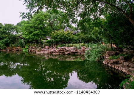 Xixi Hangzhou National Wetland Park.. The park is densely crisscrossed with six main watercourses, among which are scattered various ponds, various ponds, lakes and swamps #1140434309