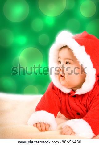 xmas baby - stock photo