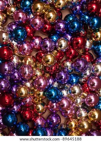 Xmas Background. Christmas Ball pattern