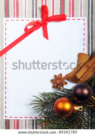 Xmas background with gingerbread cakes