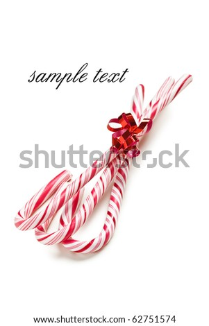 xmas background with stripy candy cane