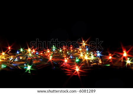 xmas color ligts on the black background