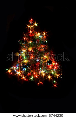 xmas tree - stock photo