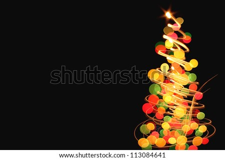 xmas tree as very nice christmas background from color lights