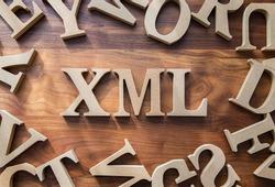 XML wooden blocks , Markup language