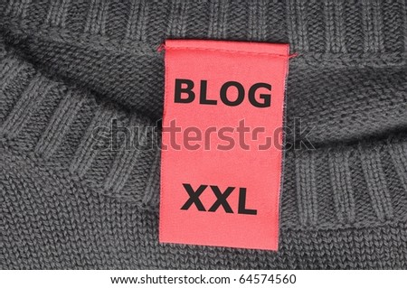 xxl internet web blog concept with fashion label