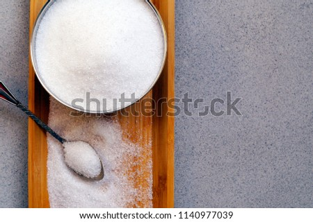 Xylitol from birch sugar -  substitute white sugar -  produkt used in the food industry - an alternative