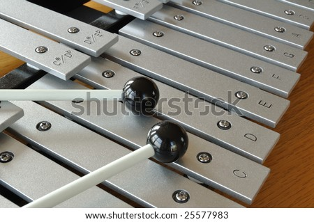 Xylophone close-up with mallets #25577983