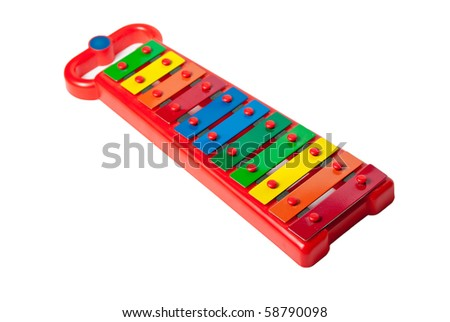 Xylophone metallophone for kids isolated on white