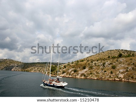 Yacht Adriatic Sea Croatia Zdjęcia stock ©