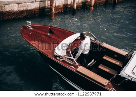 yacht at the pier.the guy in...