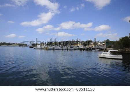 Yacht, Harbour Bridge, waterfront, Sydney, Australia