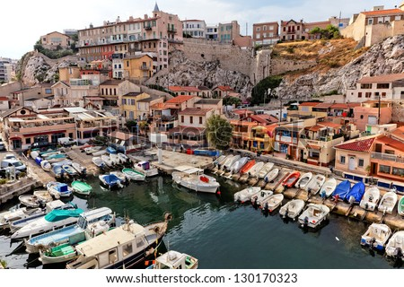 yacht harbour in old city of marseilles france stock photo 130170323 shutterstock. Black Bedroom Furniture Sets. Home Design Ideas
