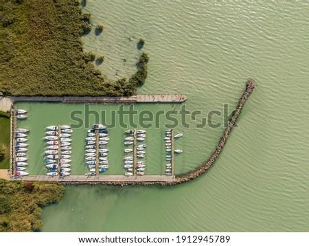 yacht harbour in Szigliget, Lake Balaton Stock photo ©