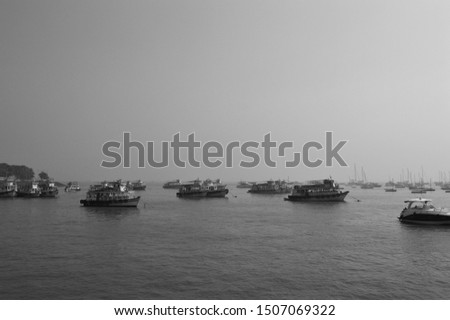 Yacht in a sea. Boats in a sea. Water transportation. #1507069322