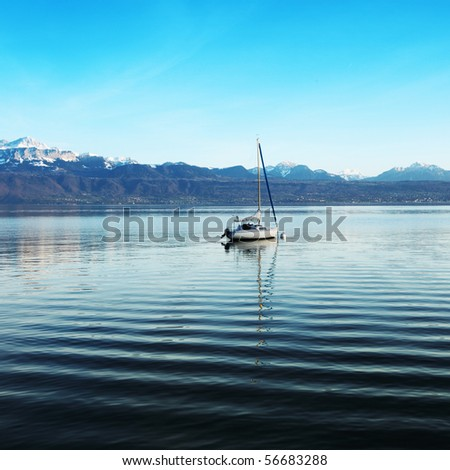 yacht in lake of geneva