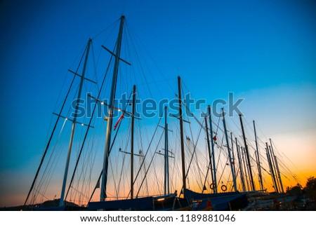 yacht mast, marine, sunsire yacht mast