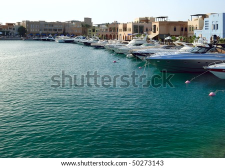 yacht moorage in El-Gouna, Egypt