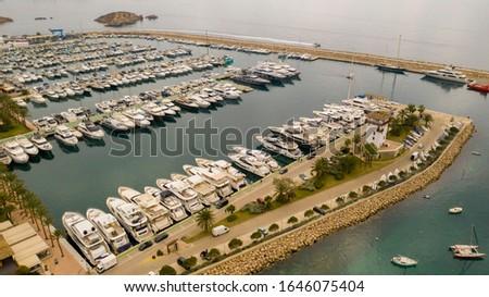 yacht port of Puerto portals Majorca Spain