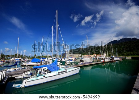 Yacht scenery