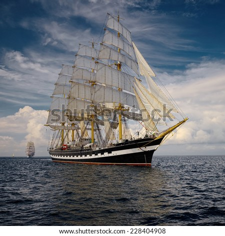 Yachting. A collection of ships and yachts #228404908