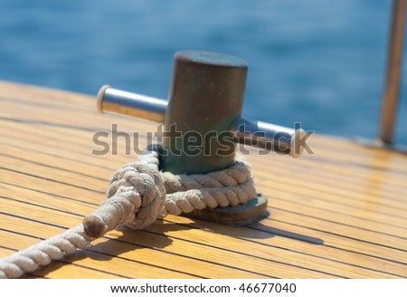 Yachting hitch - stock photo