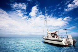 Yachting in gorgeous tropical waters