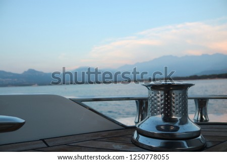 Yachting luxury and lifestyle  #1250778055
