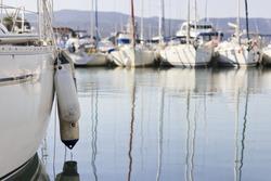 Yachts at Latchi harbor