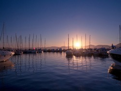 Yachts in San-Tropez. Provence. France.
