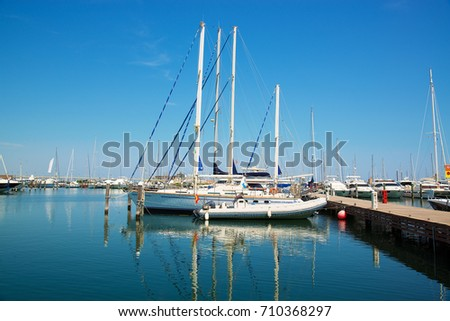 Yachts in the port waiting