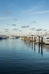Yachts moored at key West marina. Miami, Florida
